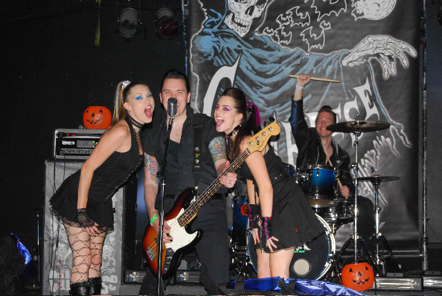 Calabrese performing in The Graves