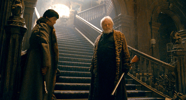 Benicio del Toro and Anthony Hopkins in The Wolfman (2010)