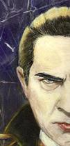 Detail from Robert Aragon's Dracula print
