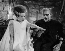 Friend? Elsa Lanchester and Boris Karloff in James Whale's Bride of Frankenstein (1935). Publicity still from doctormacro.com.