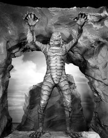 Ben Chapman as the title creature in Jack Arnold's Creature from the Black Lagoon (1954). Publicity pic from doctormacro.com.