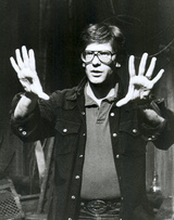 David Cronenberg on the set of Videodrome