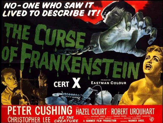 Curse of Frankenstein quad