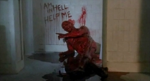 Less subtle than a telegram. A scene from Hellbound: Hellraiser II (1988).
