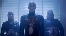 Demons to some. Angels to others. Pinhead (Doug Bradley) leads the Cenobites in Clive Barker's Hellraiser (1987).