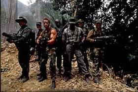 Predator (1987): Macho Men: Front row (L to R): Blain, Dutch, Dillon, Poncho; Back row: Hawkins, Mac, Billy