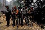Predator (1987): Macho Men: Front row (L to R): Blain, Dutch, Dillon, Poncho; Back row: Hawkins, Mac, Billy
