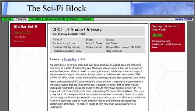 The Sci-Fi Block