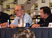 Forrest Ackerman and Basil Gogos at Comic-Con International 2006