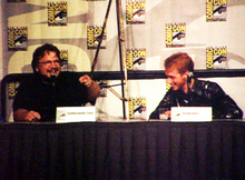 Guillermo del Toro and Doug Jones at the Pan's Labyrinth panel