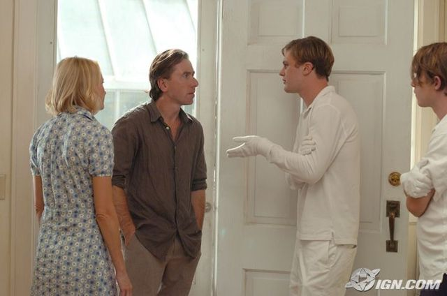 Still from Funny Games - Naomi Watts, Tim Roth, Michael Pitt, and Brady Corbet