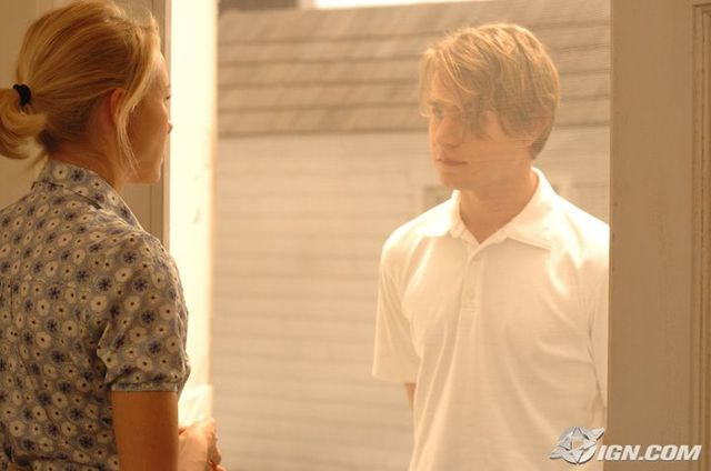 Still from Funny Games - Naomi Watts and Brady Corbet