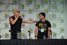 Panel moderator Dee Snider and Adam Green
